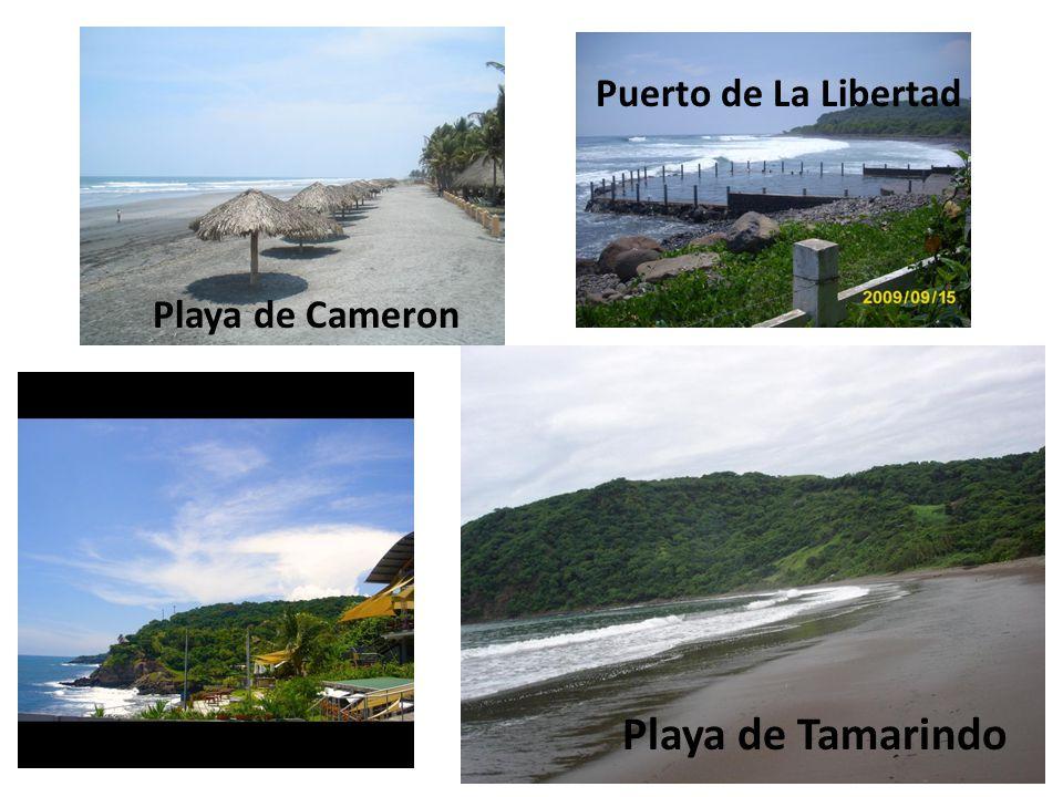 Playa de Tamarindo Playa de Cameron Puerto de La Libertad