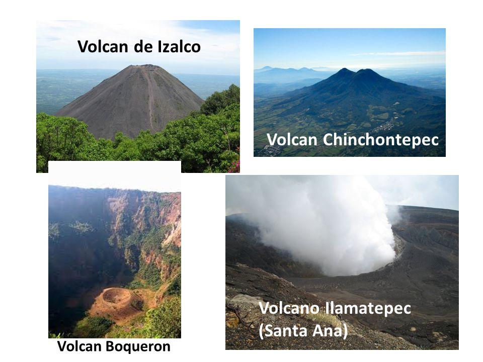 Volcan de Izalco Volcan Chinchontepec Volcano Ilamatepec (Santa Ana) Volcan Boqueron