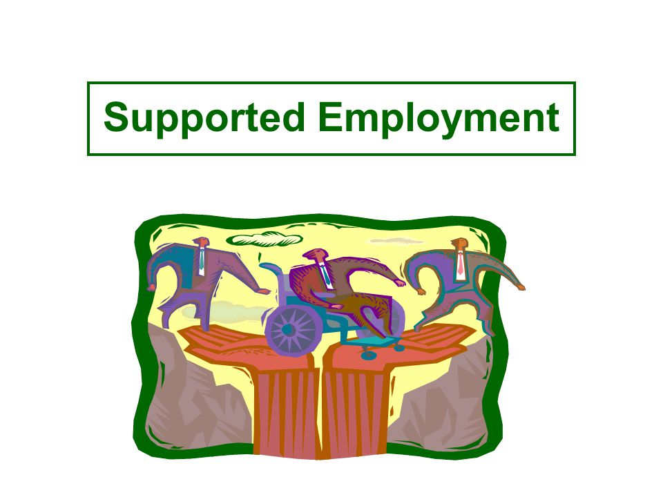 Goals Service to persons with most severe disabilities Enable persons to obtain and retain competitive employment Succeed in an integrated setting Earn minimum wage or above Ongoing support to maintain competitive employment