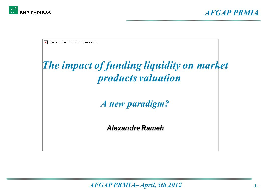 AFGAP PRMIA– April, 5th 2012 The real life - 2  The risk for the bank is to be unable to fund the future margin calls at Euribor 3Mth (rollover risk)  The only way to hedge funding liquidity risk is to term fund the position  The collateral demand of a deal can potentially be infinite  The collateral needs can only be term funded with a given confidence interval The graph gives the forecast of the Collateral at Risk with a given confidence interval.
