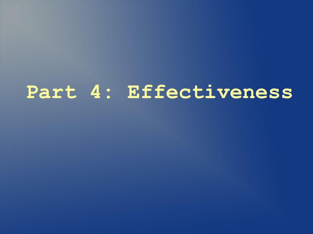 Part 4: Effectiveness