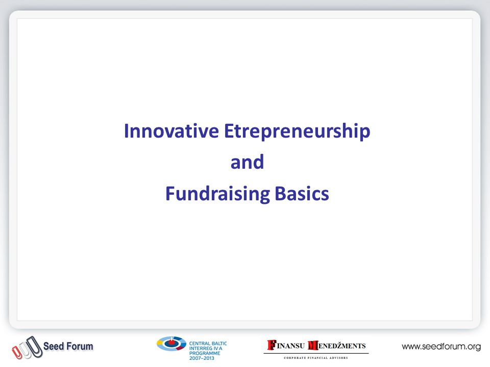 Funding: All the previous funding sources...