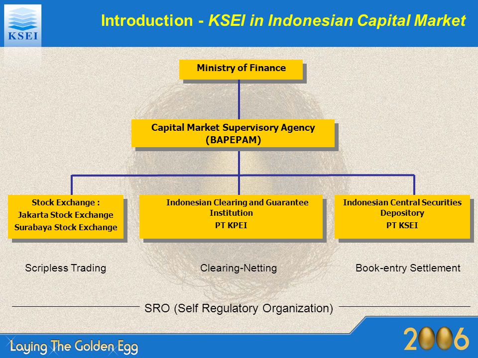 Investor Types Individual Investor –Local –Foreign Institutional Investor : –Local : Limited Company Brokers Insurance Bank Government of Indonesia Pension Fund Mutual Fund Foundation Jamsostek (Labor Social Security) Cooperative Custodian Bank Taspen (Civil Servant Insurance Savings) –Foreign : Tax Treaty (each country)