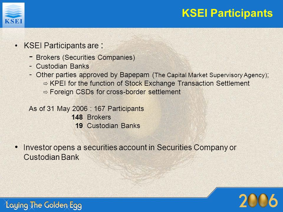 Distribution of CA proceed KDPW C-Best Back-end system Central tax account member 1 Own Deps a/c Client a/c 001 Client a/c 002 Client a/c 003 Client a/c 004 member 2 Own Deps a/c Client a/c A Issuer's account ISSUER Payment Bank (cash proceed) Registrar (sec proceed) ProceedsTax