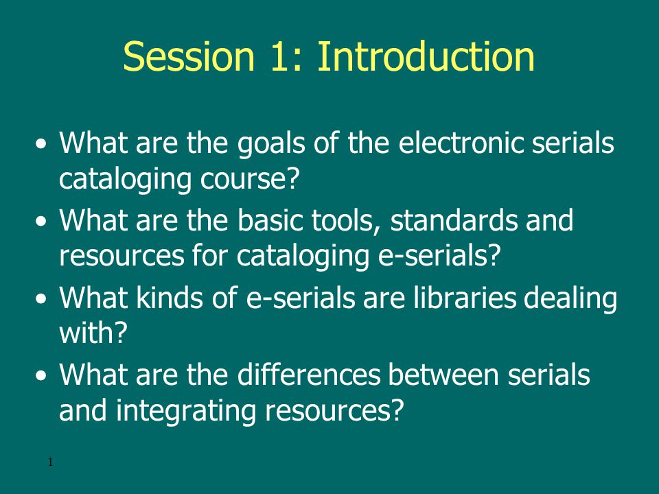 101 Session 3 – Aggregations and Packages –What kinds of e-serial aggregations and packages are available.