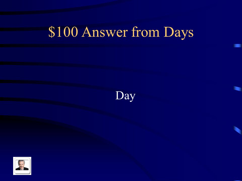 $100 Question from Days El día in English
