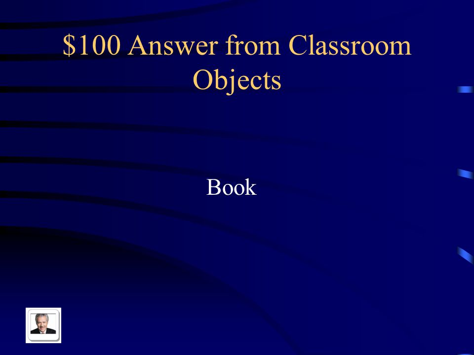 $100 Question from Classroom Objects El libro in English