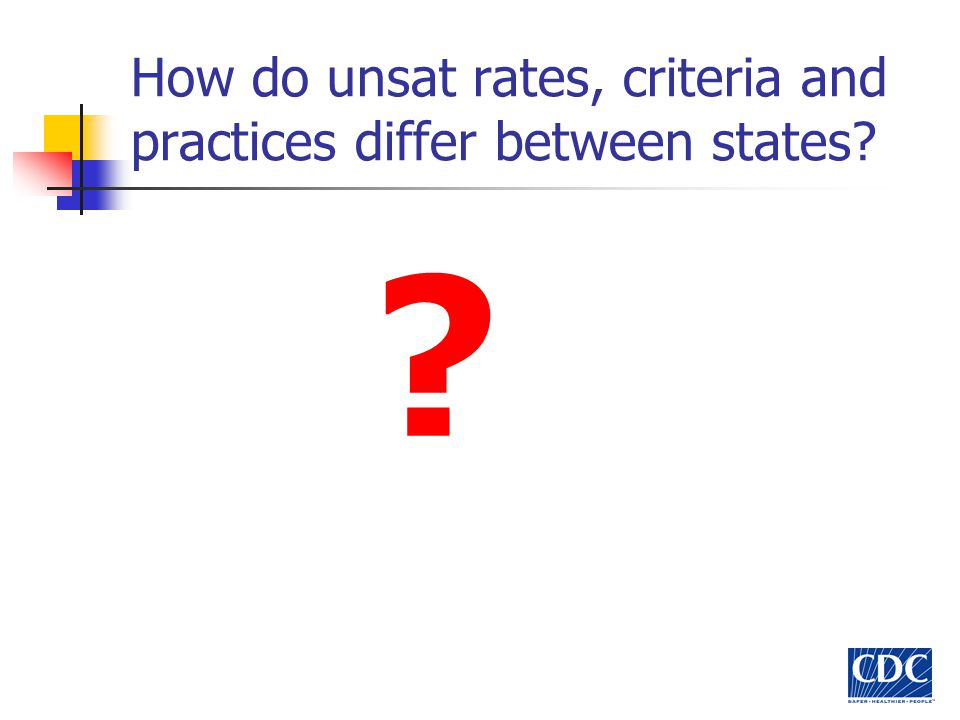 National Unsat Survey Data on state unsat rates was collected from the 1996-2000 National Newborn Screening Reports.