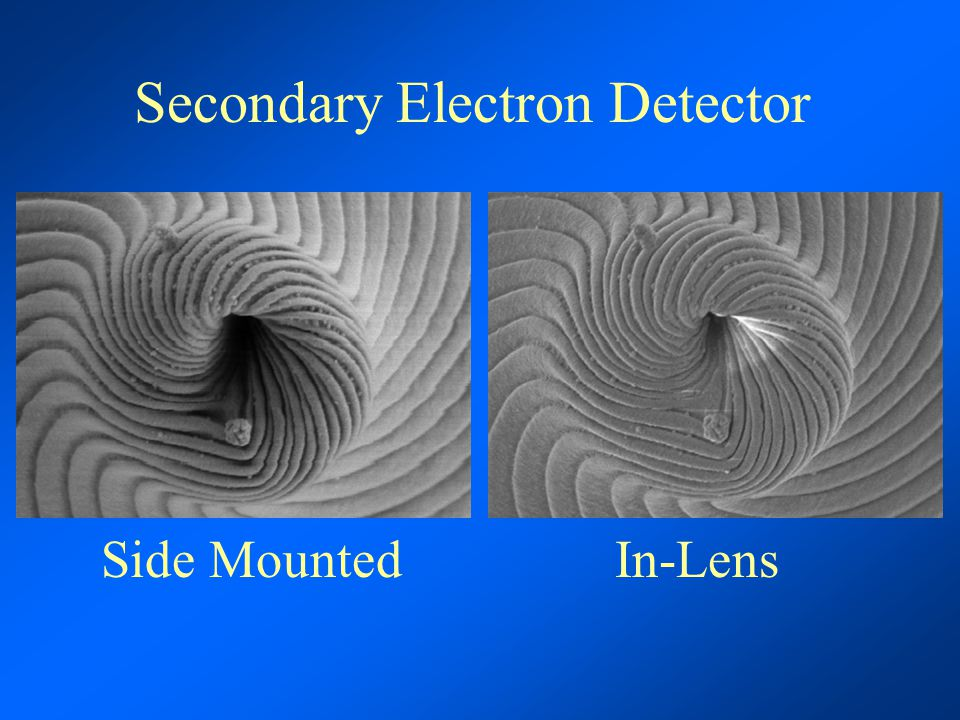 Secondary Electron Detector Side Mounted In-Lens