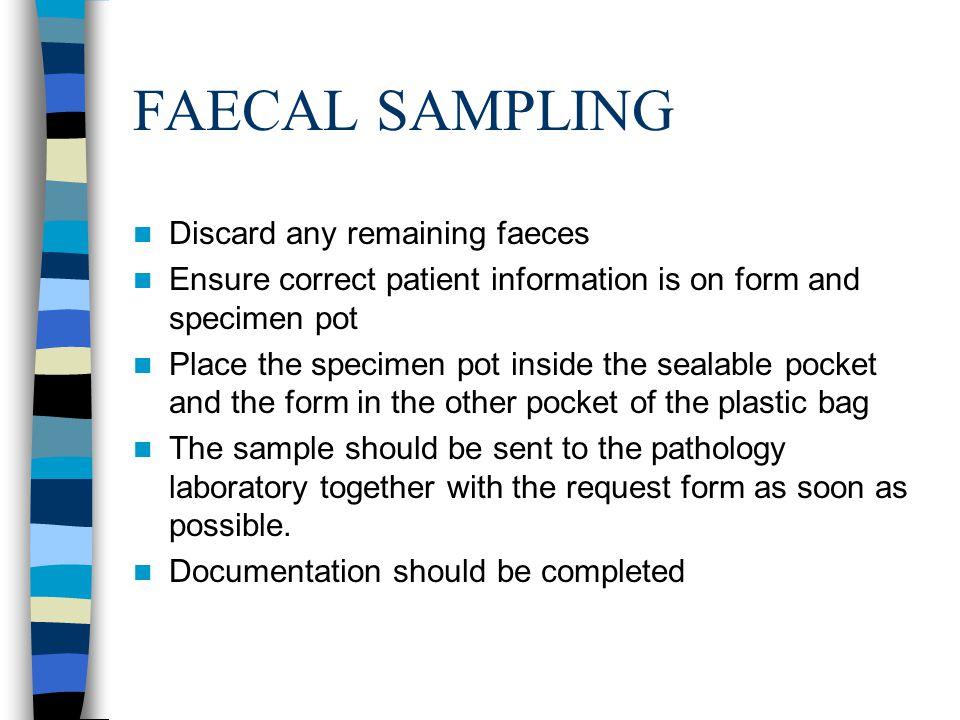 URINE SPECIMENS SPECIMEN TYPES RANDOM SPECIMEN For chemical and microscopic examination.