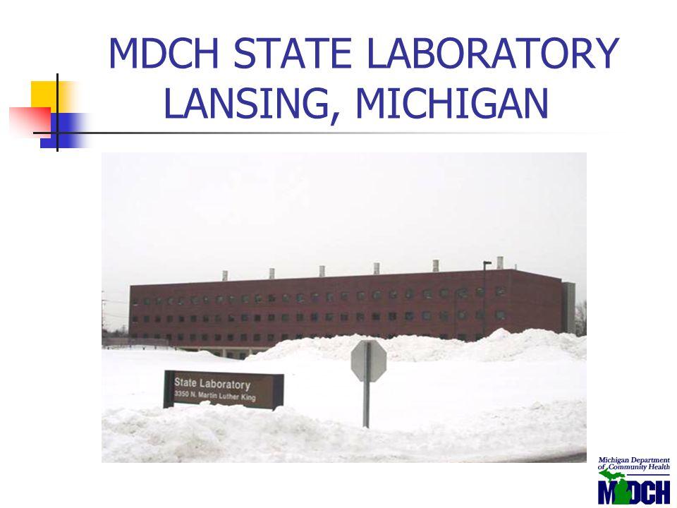 MDCH STATE LABORATORY LANSING, MICHIGAN