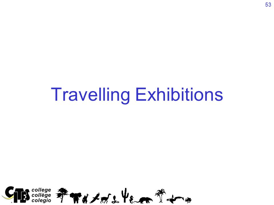 53 Travelling Exhibitions
