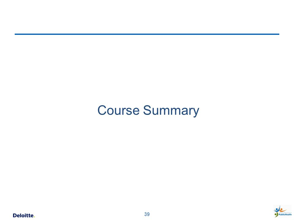 39 Course Summary