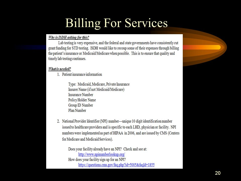 20 Billing For Services