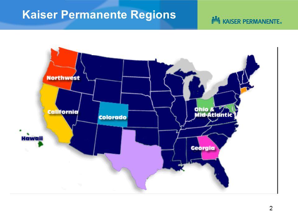 2 Kaiser Permanente Regions