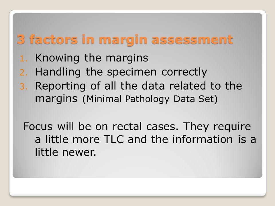 3 factors in margin assessment 1. Knowing the margins 2.