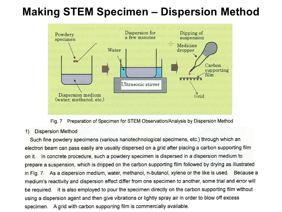Making STEM Specimen – Dispersion Method