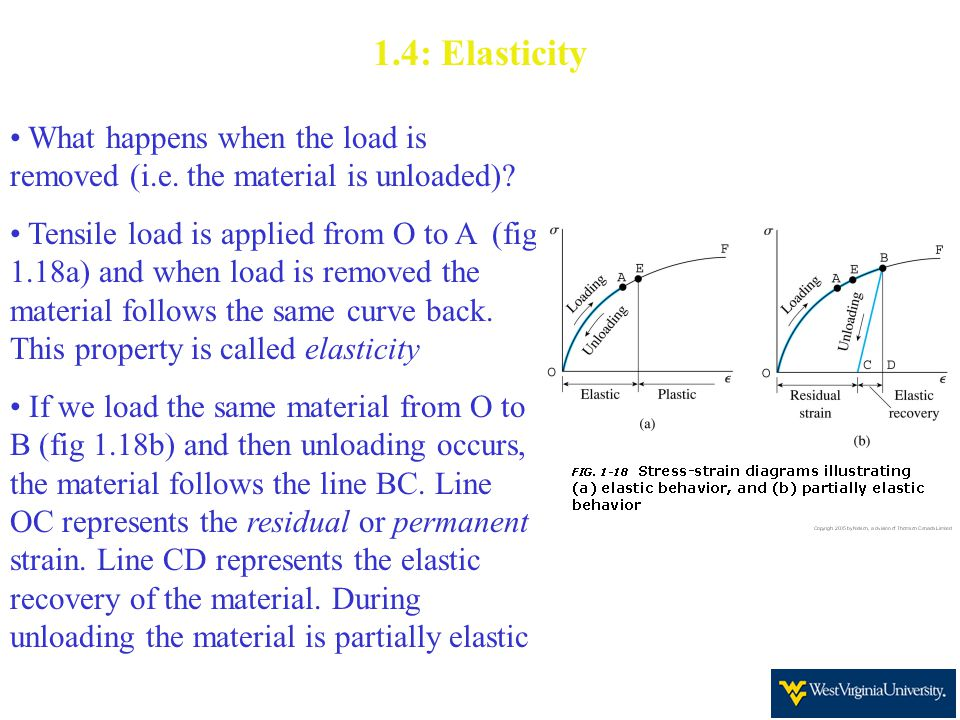 1.4: Elasticity What happens when the load is removed (i.e.