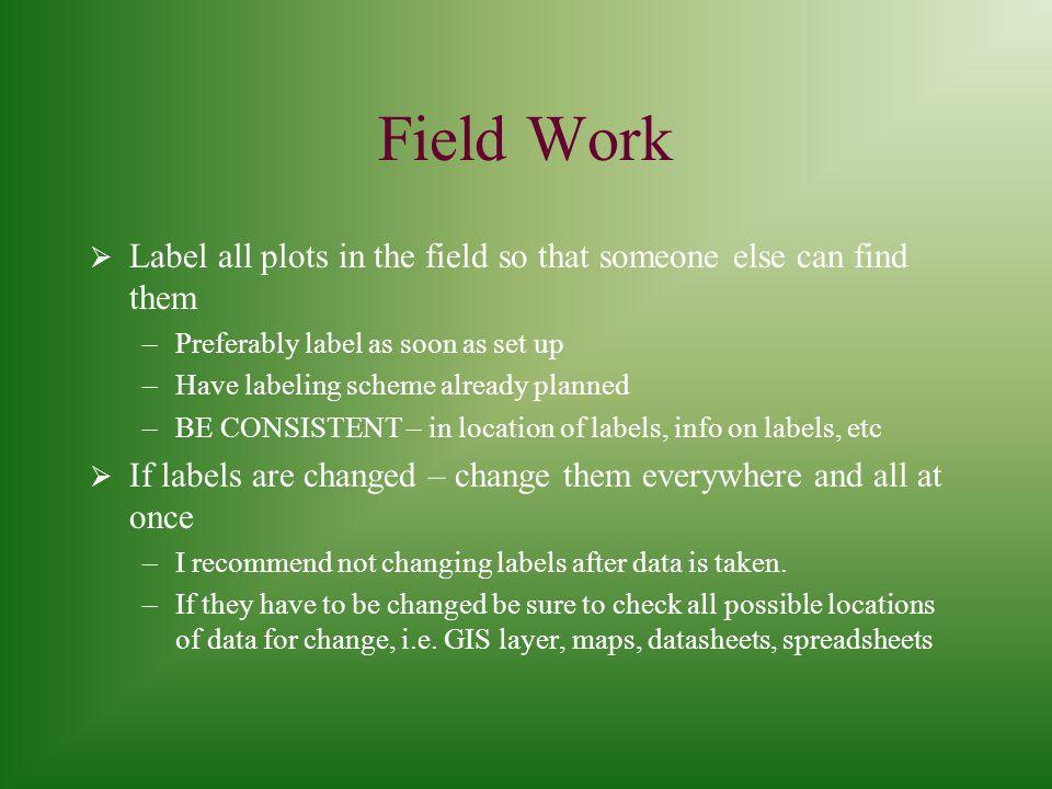 KEEP A FIELD NOTEBOOK. Keep a field notebook!!!!.