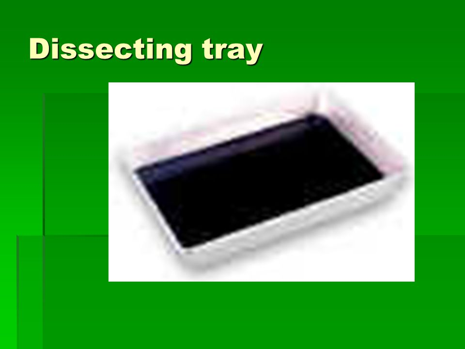 Dissecting tray