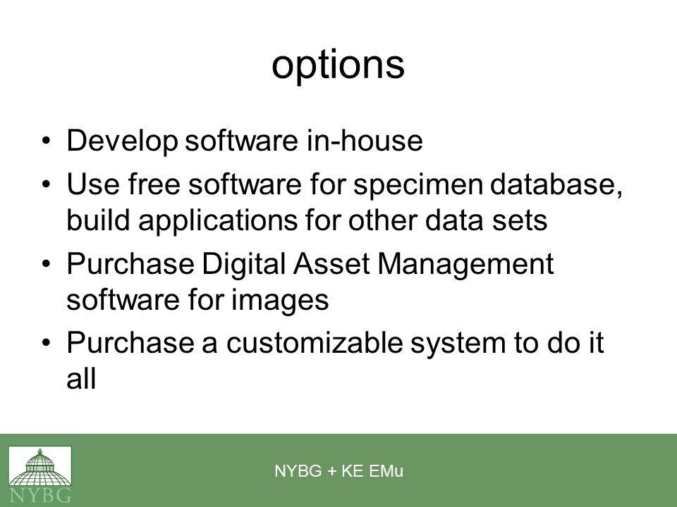 NYBG + KE EMu not just for herbarium sheets anymore