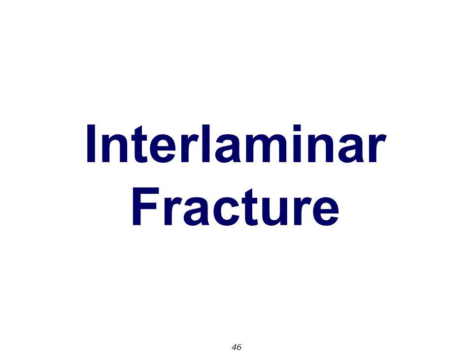 46 Interlaminar Fracture