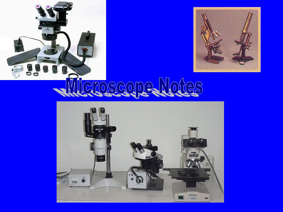 Microscope One or more lense that makes an enlarged image of an object.