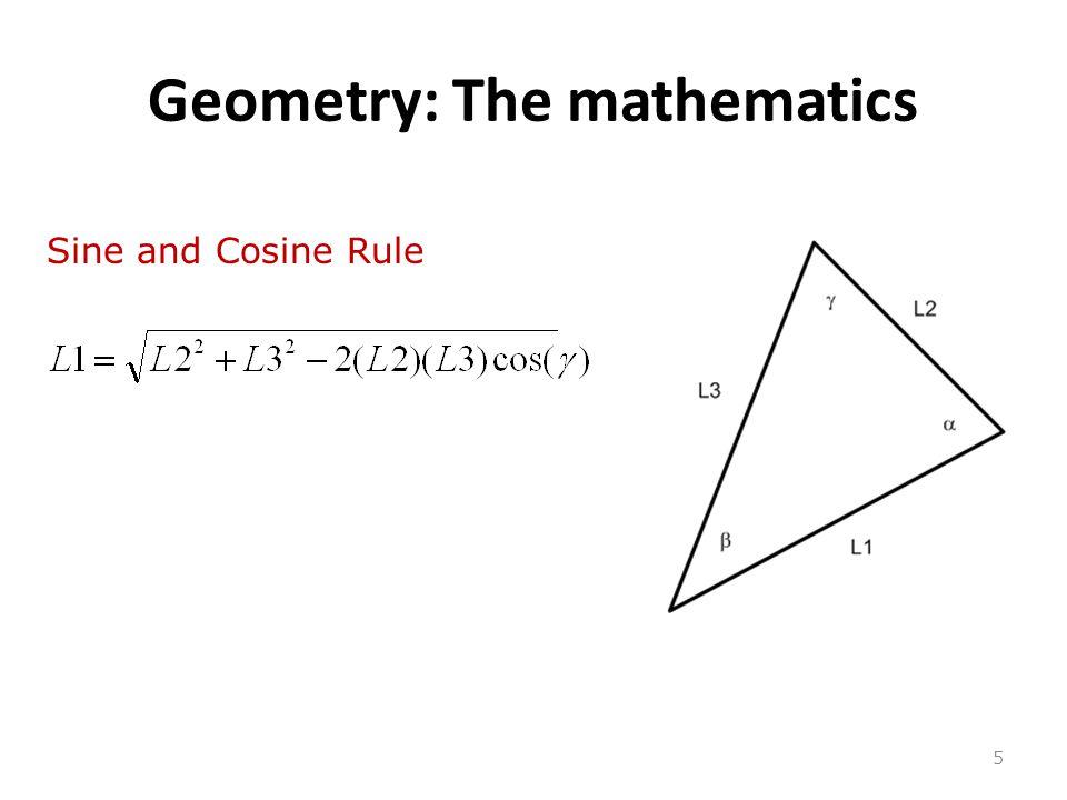 Geometry: The mathematics 5 Sine and Cosine Rule