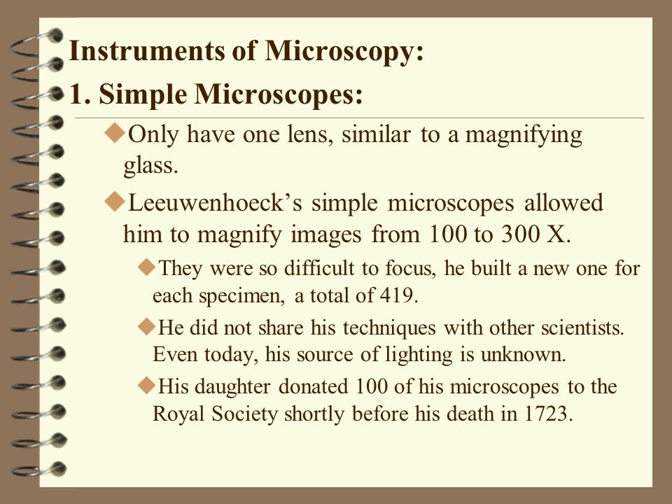Instruments of Microscopy: 6.Electron Microscopy A.