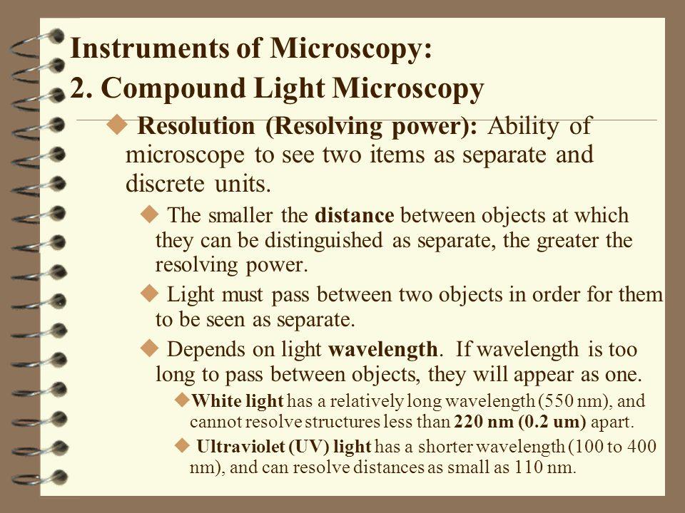 Preparation of Specimens for Light Microscopy 3.