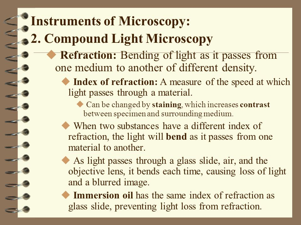 Preparation of Specimens for Light Microscopy A.Basic dyes: u Chromophor is in positive ions.