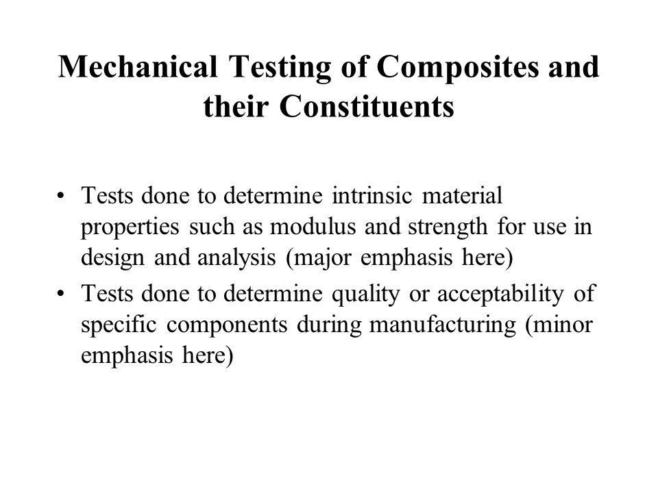 American Society for Testing and Materials (ASTM) Standards Test standards for polymer matrix and metal matrix composites - ASTM Vol.
