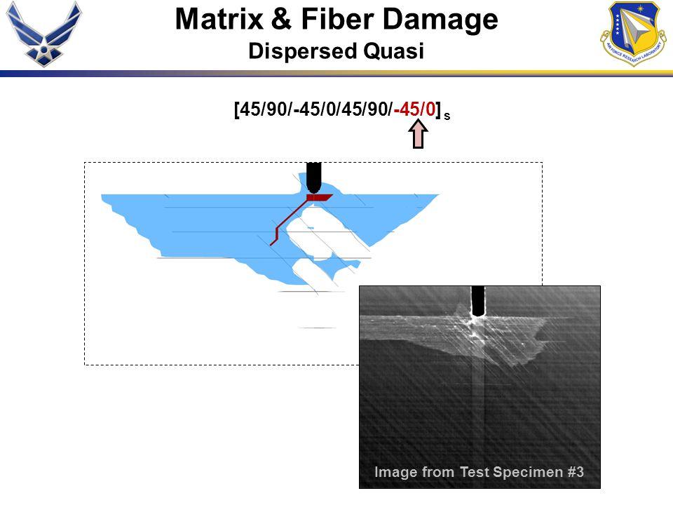 [45/90/-45/0/45/90/-45/0] s Matrix & Fiber Damage Dispersed Quasi Image from Test Specimen #3