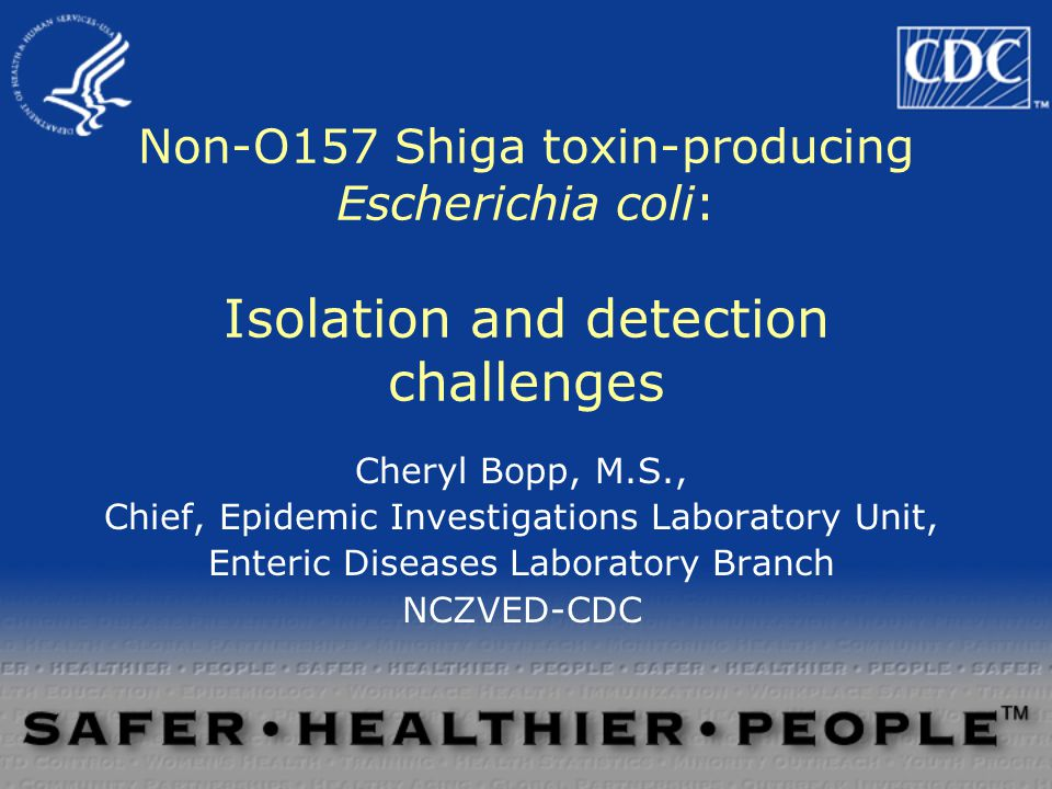 Challenges for outbreak detection ( how do you isolate non-O157 STEC?)