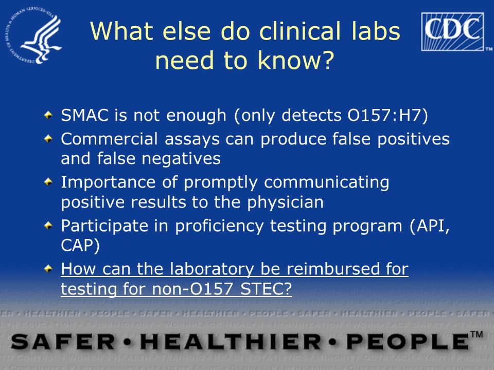 What else do clinical labs need to know.