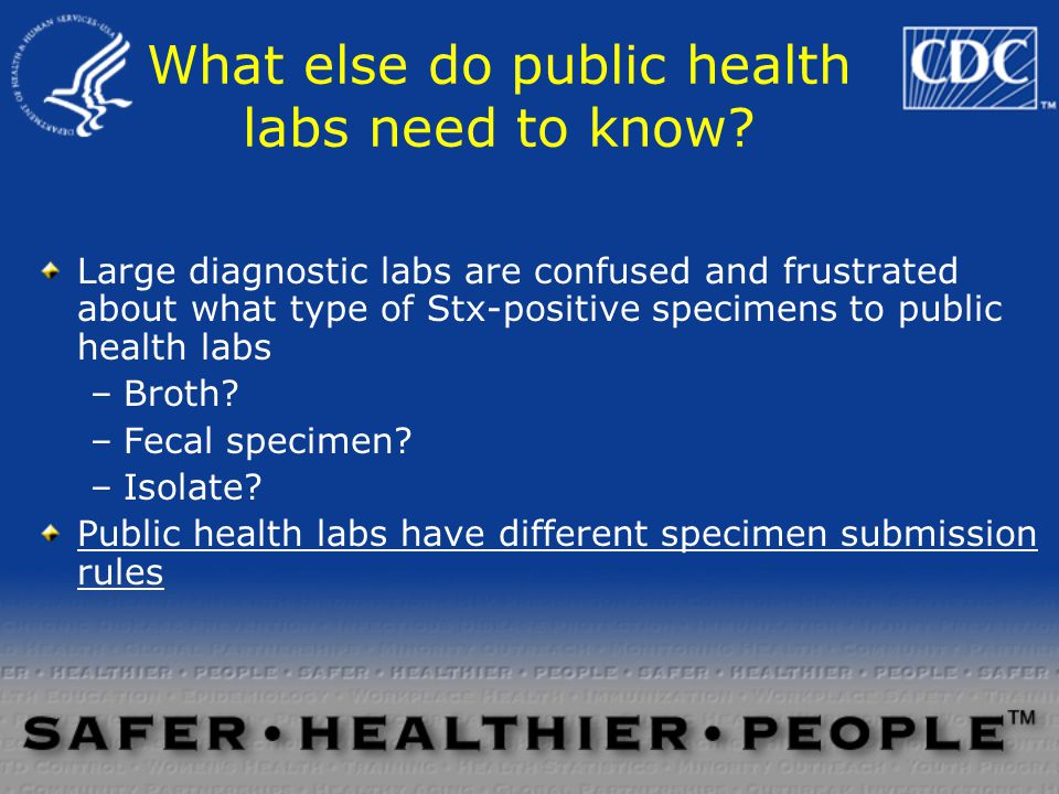 What else do public health labs need to know.