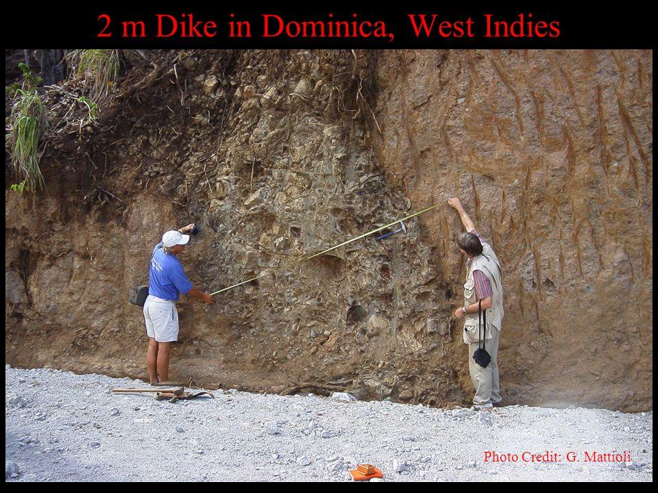 2 m Dike in Dominica, West Indies Photo Credit: G. Mattioli