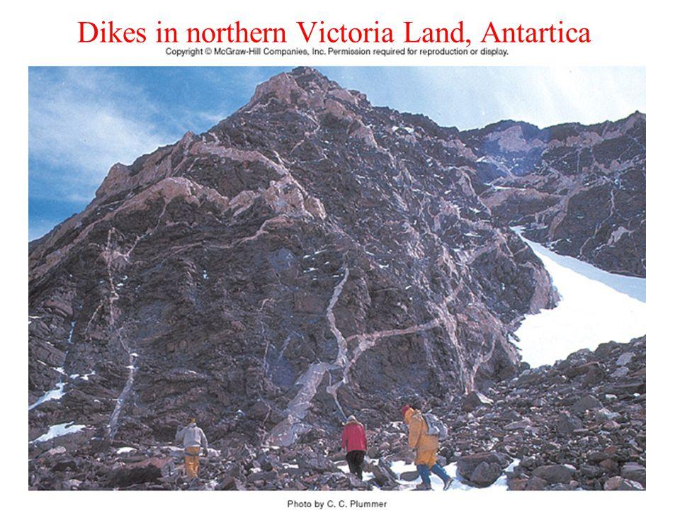 Dikes in northern Victoria Land, Antartica