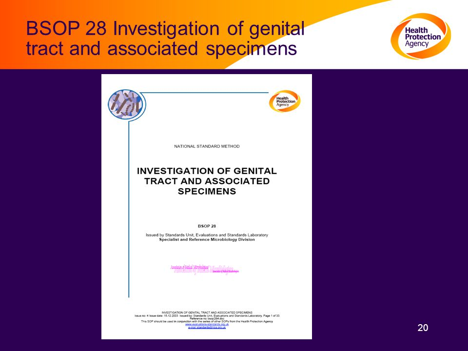 20 BSOP 28 Investigation of genital tract and associated specimens