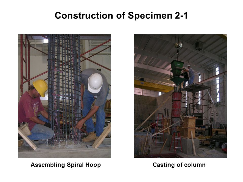 Construction of Specimen 2-1 Assembling Spiral HoopCasting of column