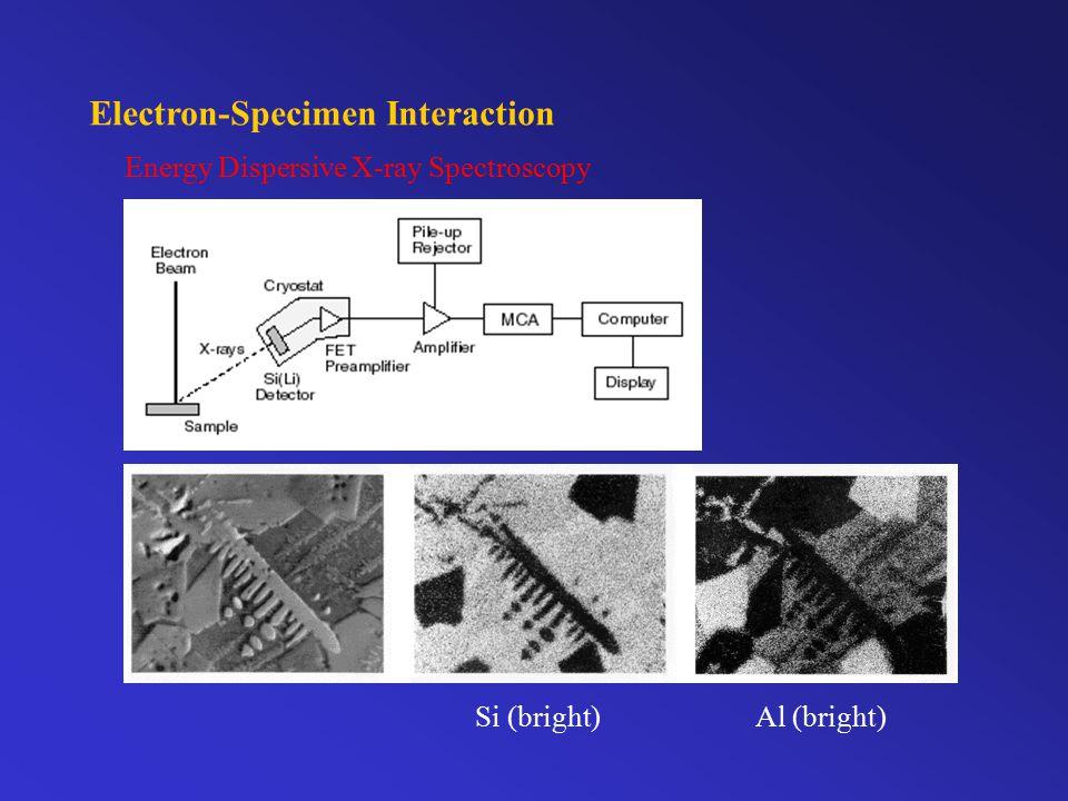 Electron-Specimen Interaction Energy Dispersive X-ray Spectroscopy Si (bright)Al (bright)