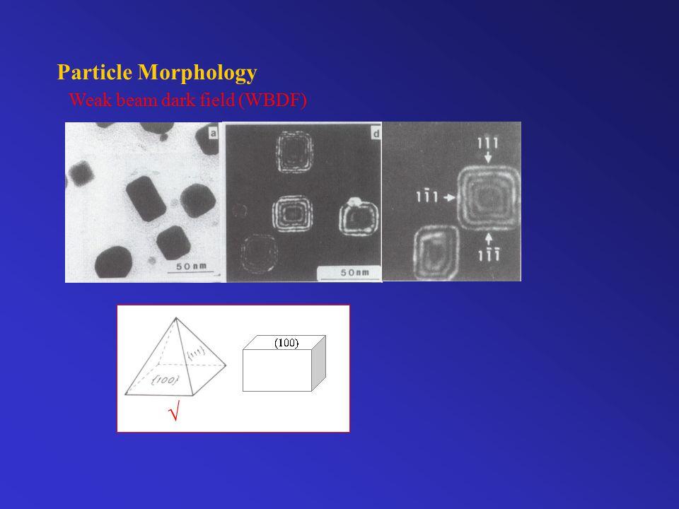 Particle Morphology Weak beam dark field (WBDF) 