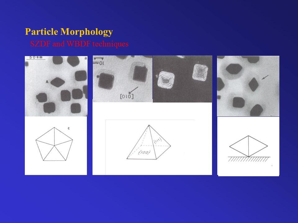 Particle Morphology SZDF and WBDF techniques