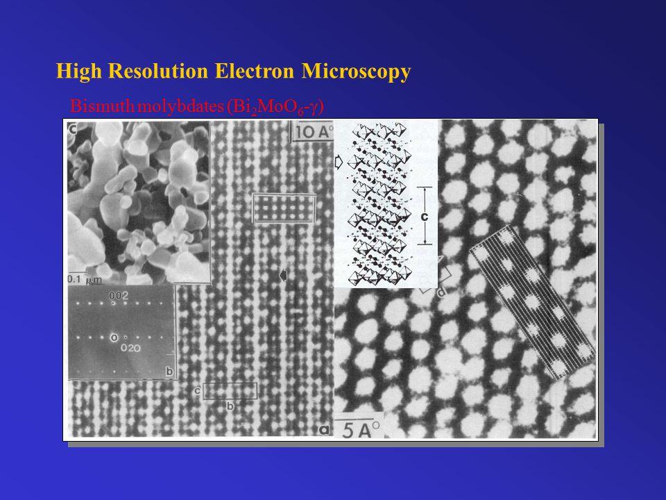 High Resolution Electron Microscopy Bismuth molybdates (Bi 2 MoO 6 -  )