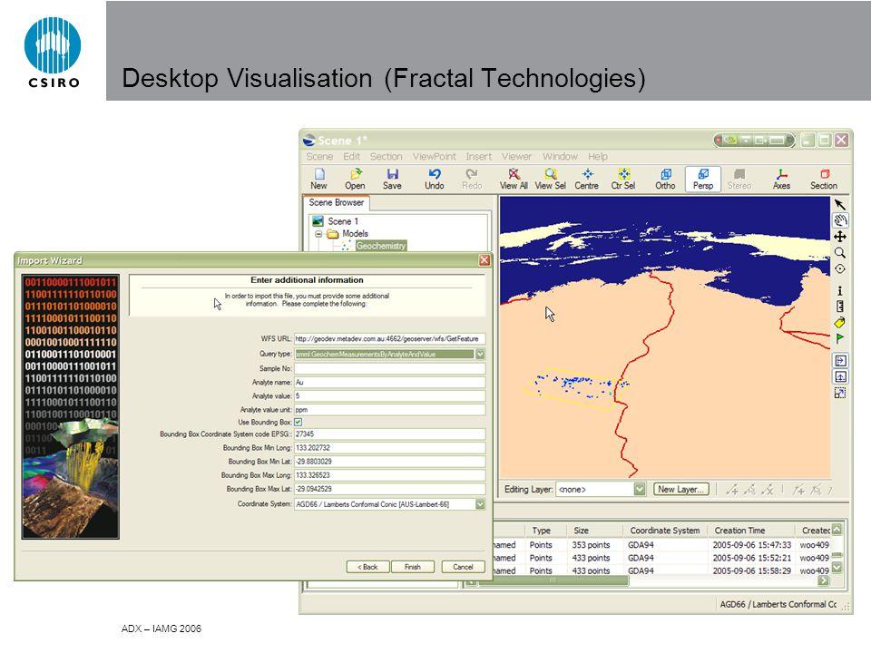 ADX – IAMG 2006 Desktop Visualisation (Fractal Technologies)