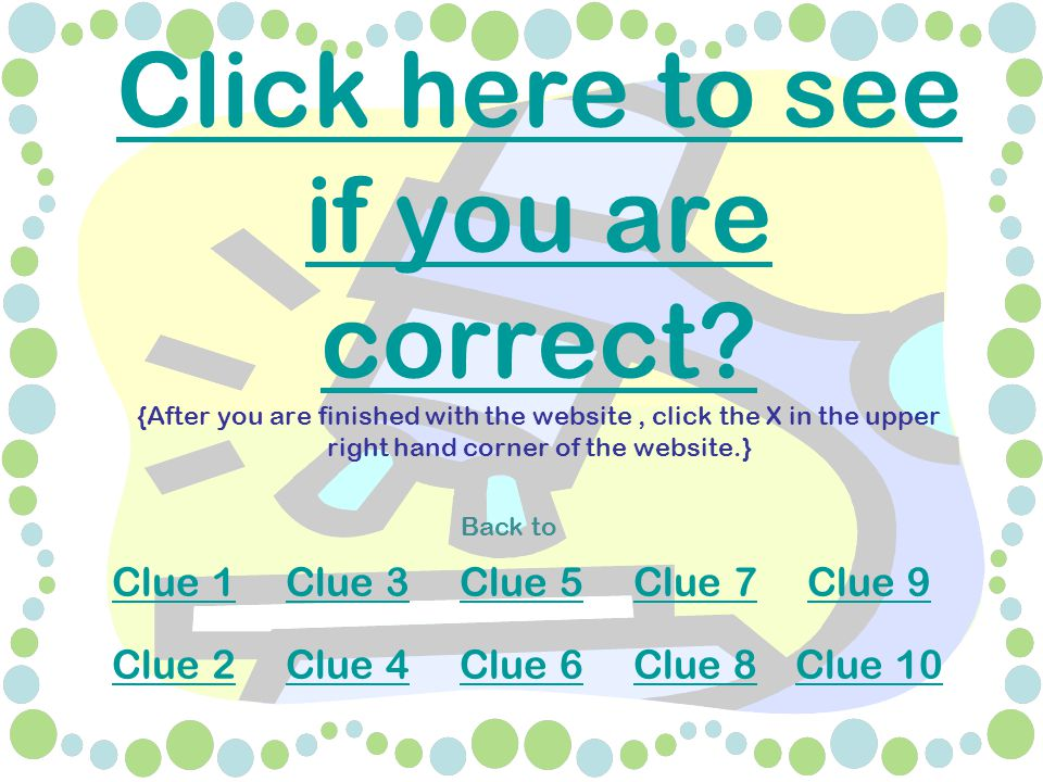 Click here to see if you are correct. Click here to see if you are correct.