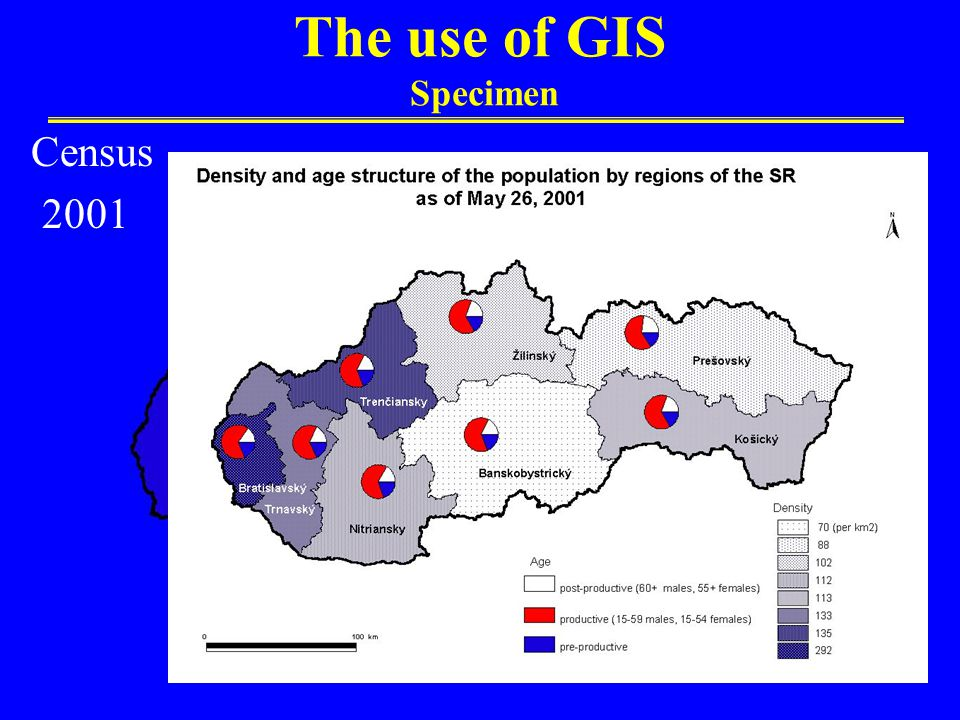 The use of GIS Specimen Census 2001