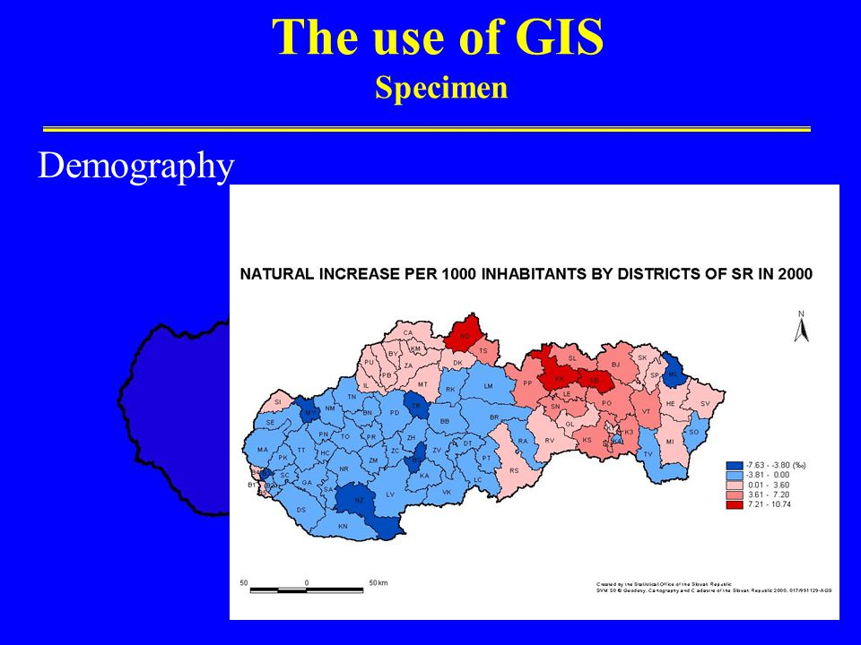 The use of GIS Specimen Demography