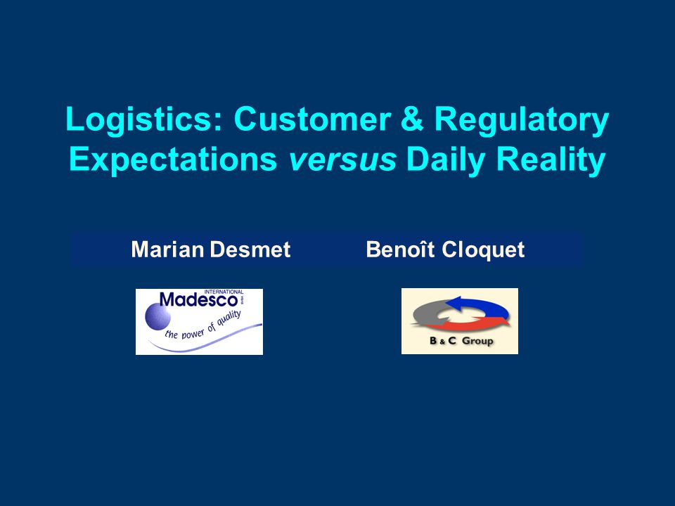 B&Cemo Conf/MD/26-Jan-2006/Slide 2 1.Logistics: What is it.
