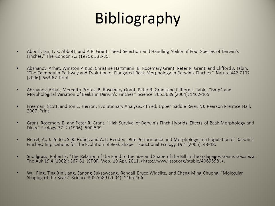 Bibliography Abbott, Ian, L. K. Abbott, and P. R.